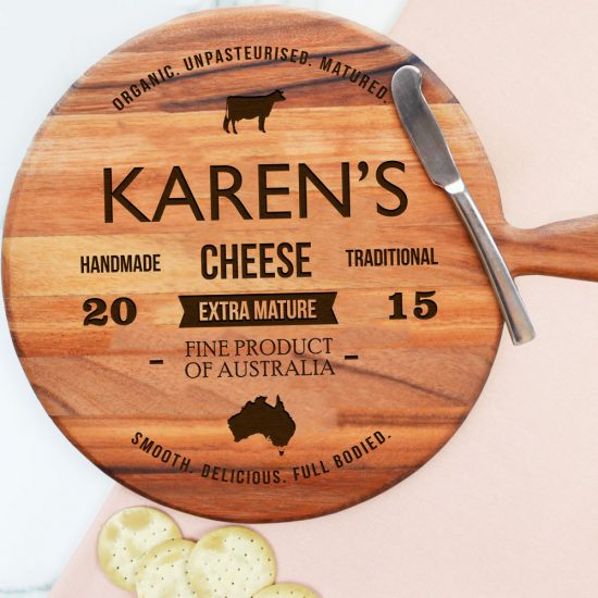 Personalised Traditional Label Cheeseboard