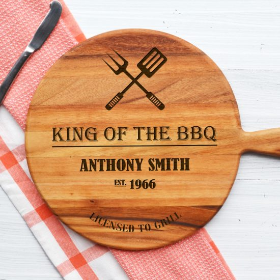 Personalised King of the BBQ Cheeseboard