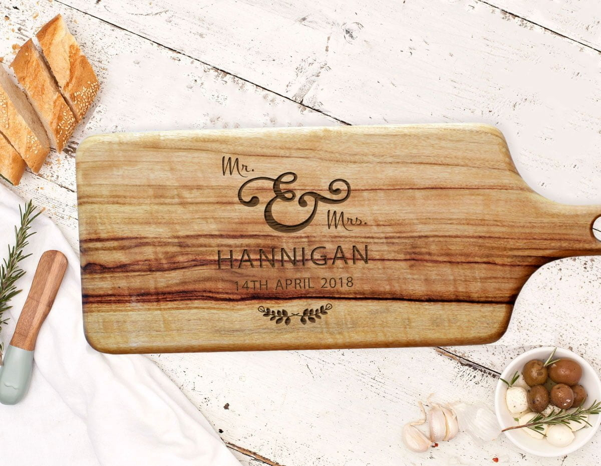 Personalised Mr /& Mrs Rectangle Chopping Board