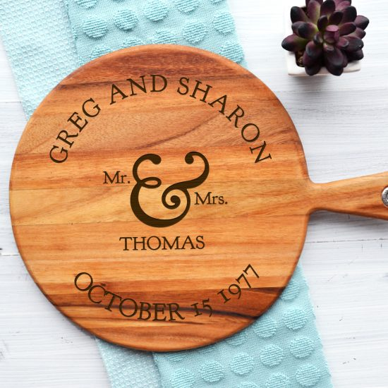Personalised Mr and Mrs Cheeseboard