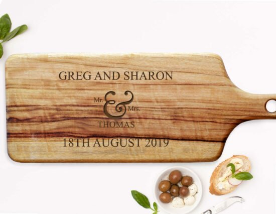 Personalised Mr and Mrs Rectangle Cheeseboard