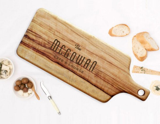 Personalised Cafe and Lounge Rectangle Cheeseboard