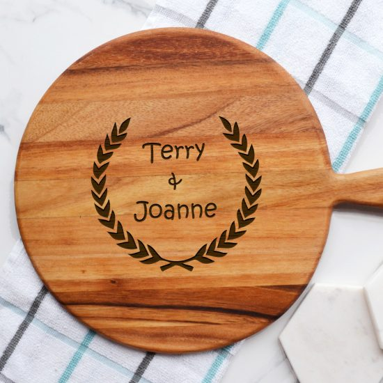 Personalised His and Hers Wreath Cheeseboard