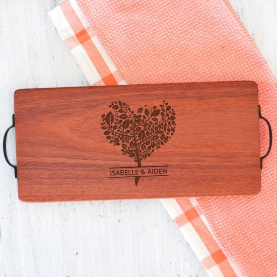 Personalised Heart Tree Serving Board
