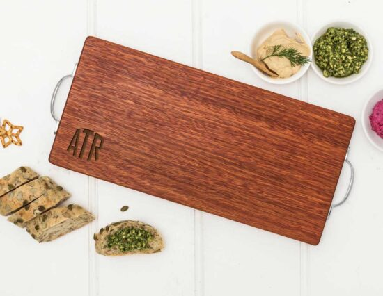 Personalised Rounded Initials Serving Board