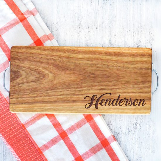 Personalised Surname Serving Board