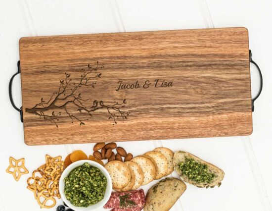 Personalised Love Birds Serving Board