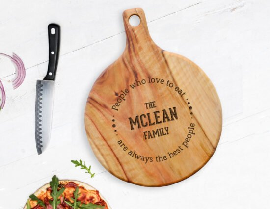 Personalised Food Quote Pizza Board