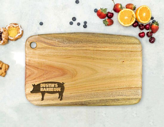 Personalised Pork BBQ Camphor Laurel Chopping Board