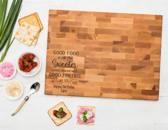 Personalised Good Food Canadian Maple Chopping Board