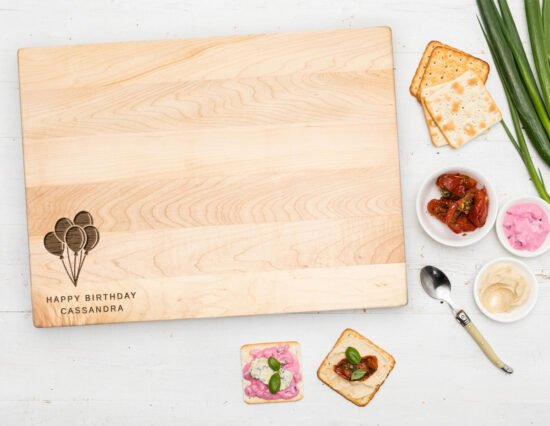 Personalised Balloons Canadian Maple Chopping Board