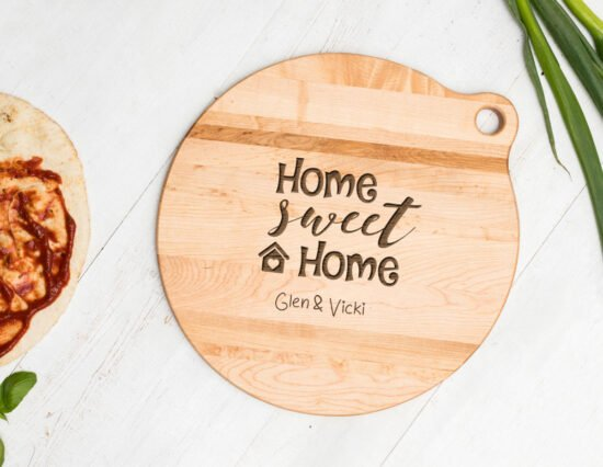 Personalised Home Sweet Home Canadian Maple Cheeseboard