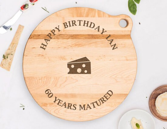 Personalised Matured Cheese Canadian Maple Cheeseboard