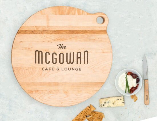 Personalised Traditional Cheese Canadian Maple Cheeseboard
