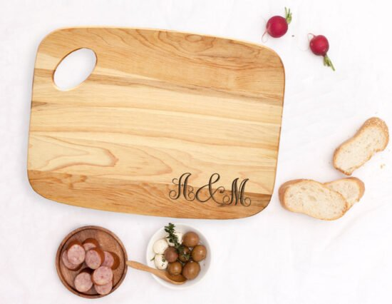 Personalised Monogram Charcuterie Board