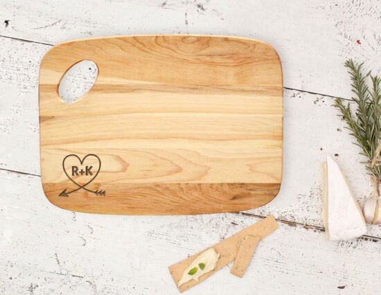 Personalised Arrow Heart Charcuterie Board