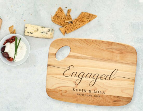 Personalised Engaged Charcuterie Board
