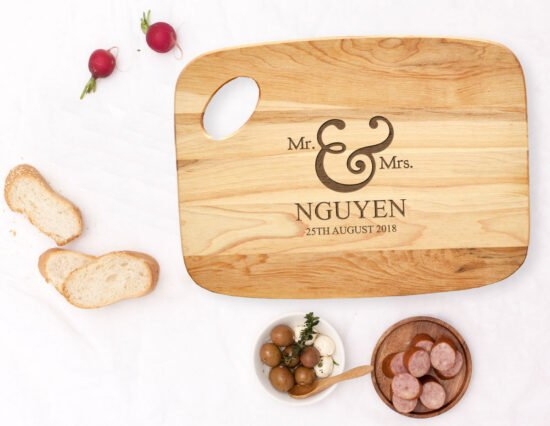 Personalised Mr and Mrs Charcuterie Board