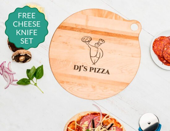 Personalised Pizza Chef Canadian Maple Pizza Board