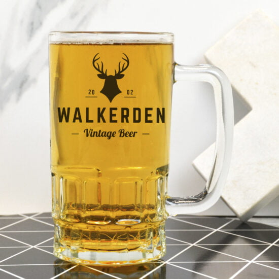 Personalised Deer Head Beer Mug