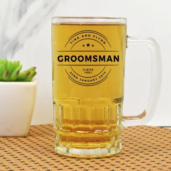 Personalised Wedding Date Beer Mug