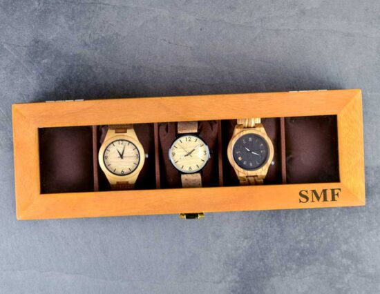 Personalised Initials Wooden Watch Box