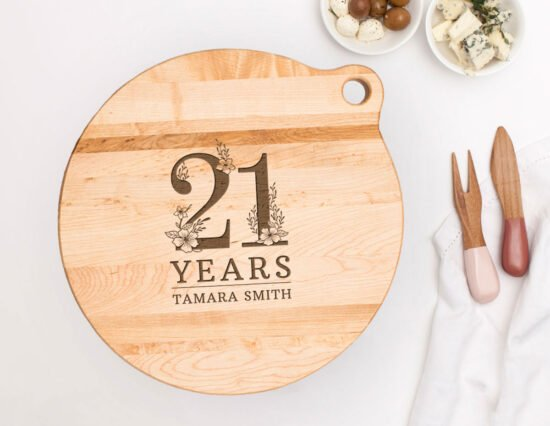 Personalised 21st Birthday Canadian Maple Cheeseboard