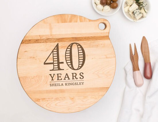 Personalised 40th Birthday Canadian Maple Cheeseboard