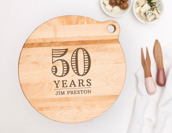 Personalised 50th Birthday Canadian Maple Cheeseboard
