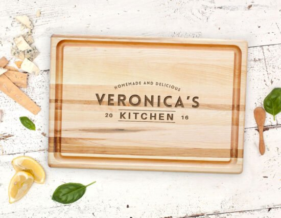 Personalised Kitchen Canadian Maple Meat Board