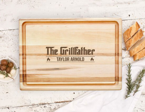 Personalised Grillfather Canadian Maple Meat Board