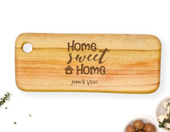 Personalised Home Sweet Home Rectangle Cheeseboard