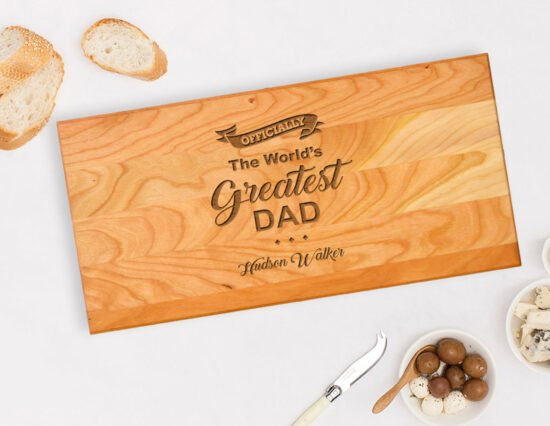 Personalised World's Greatest Dad Serving Board