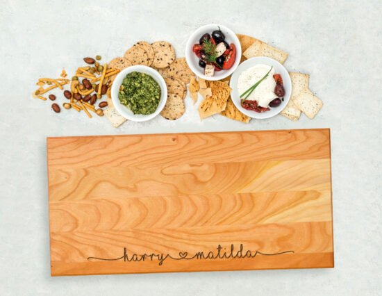 Personalised Joining Hearts Serving Board