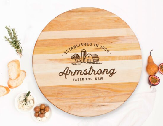 Personalised Property Canadian Maple Lazy Susan