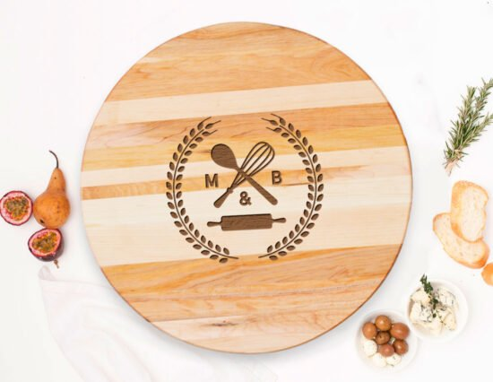 Personalised Kitchen Canadian Maple Lazy Susan