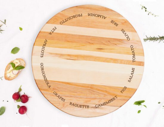 Personalised Antipasto Canadian Maple Lazy Susan