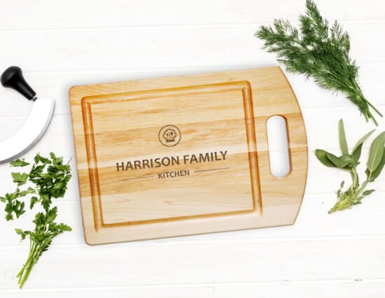 Personalised Family Kitchen Cutting Board