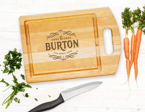Personalised Scroll Cutting Board