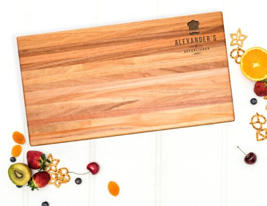 Personalised Chef Hat Extra Large Chopping Board