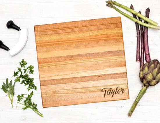 Personalised Surname Extra Large Square Chopping Board