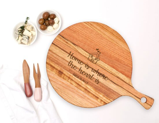 Personalised Home Round Ash Cheeseboard