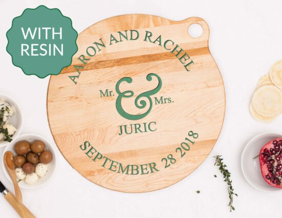 Personalised Mr and Mrs Resin Cheeseboard