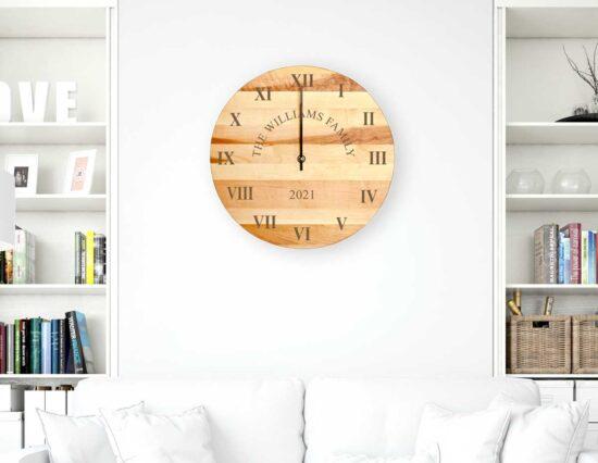 Personalised Rustic Clock