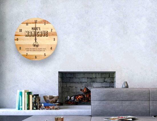 Personalised Man Cave Clock