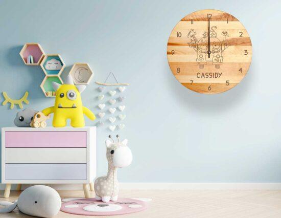 Personalised Animal Clock